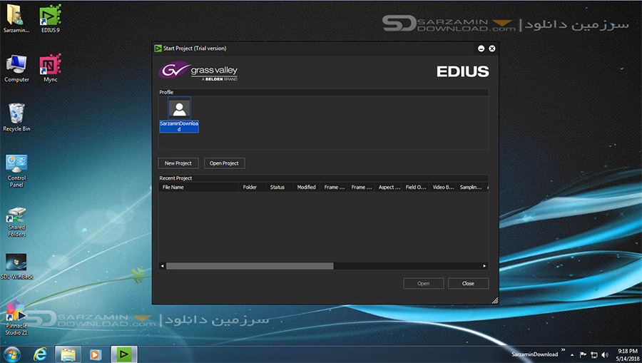نرم افزار حرفه ای تدوین و میکس فیلم ادیوس (برای ویندوز) - Edius Pro 8.5.3.4924 Windows