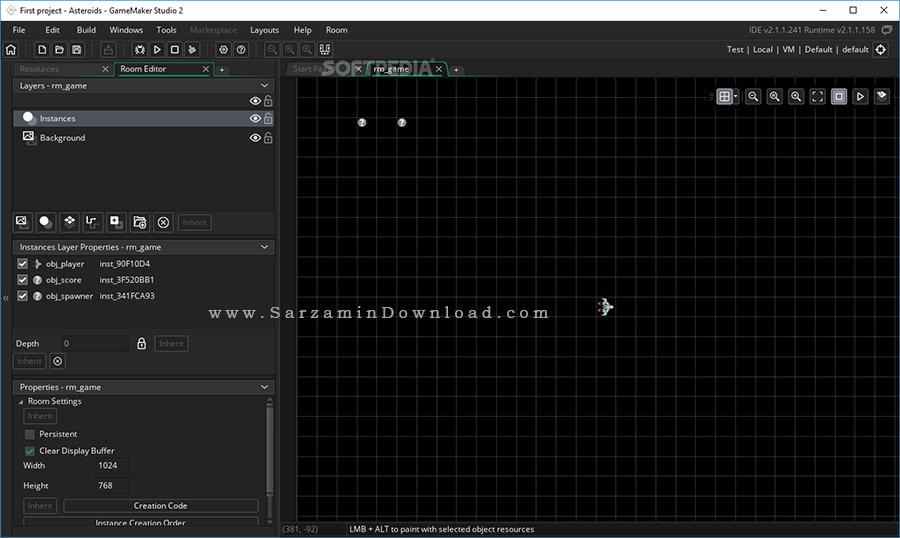 نرم افزار حرفه ای ساخت بازی (برای ویندوز) - GameMaker Studio Ultimate 2.2.3.436 Windows