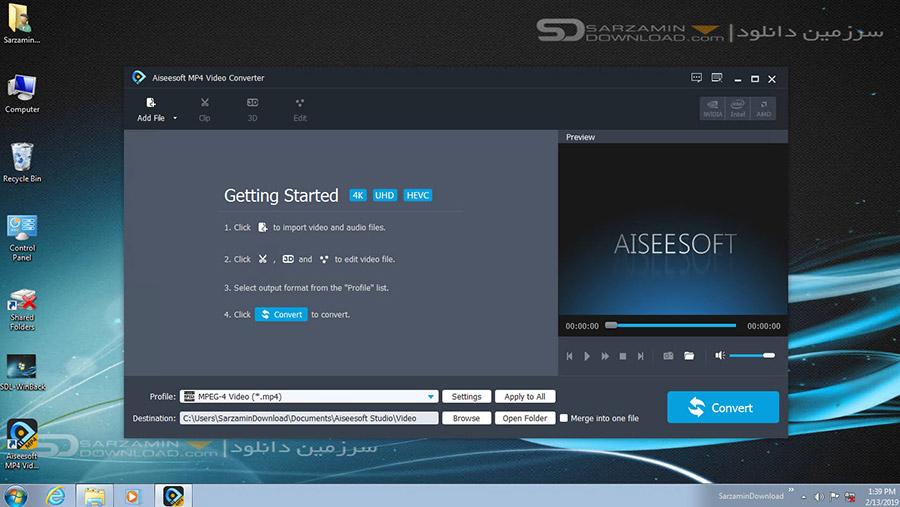 نرم افزار تبدیل فرمت MP4 (برای ویندوز) - Aiseesoft MP4 Video Converter 9.2.26 Windows
