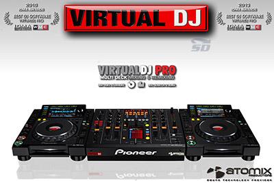 نرم افزار شبیه سازی دستگاه دی جی برای میکس آهنگ (برای ویندوز) - VirtualDJ Pro 2020 v8.4.5308 Windows