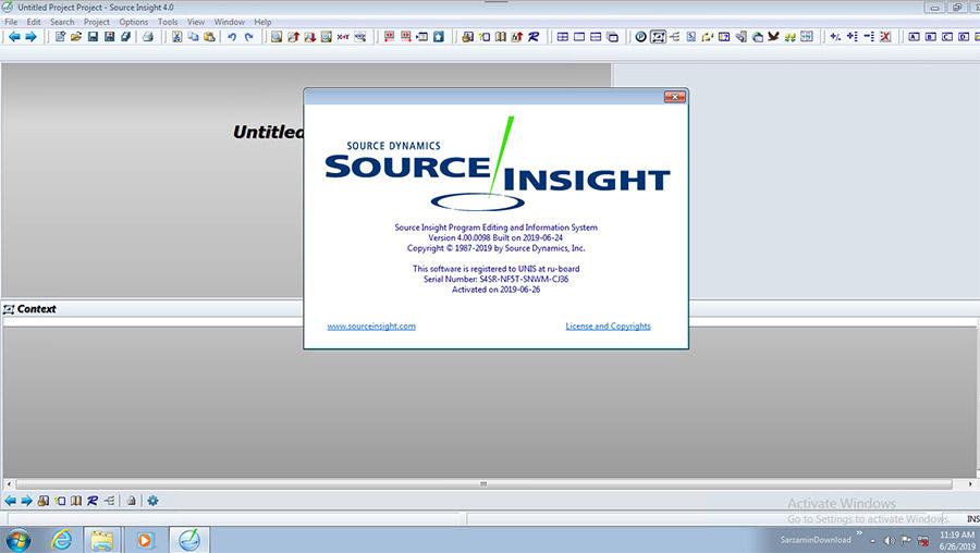 نرم افزار ویرایش و نمایش سورس برنامه ها (برای ویندوز) - Source Insight 4.00.0098 Windows