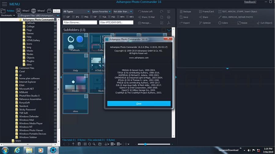 نرم افزار مدیریت عکس حرفه ای (برای ویندوز) - Ashampoo Photo Commander 16.0.6 Windows