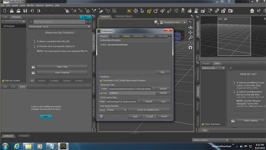 نرم افزار ساخت انیمیشن های 3 بعدی (برای ویندوز) - DAZ Studio Pro 4.11.0.383 Windows