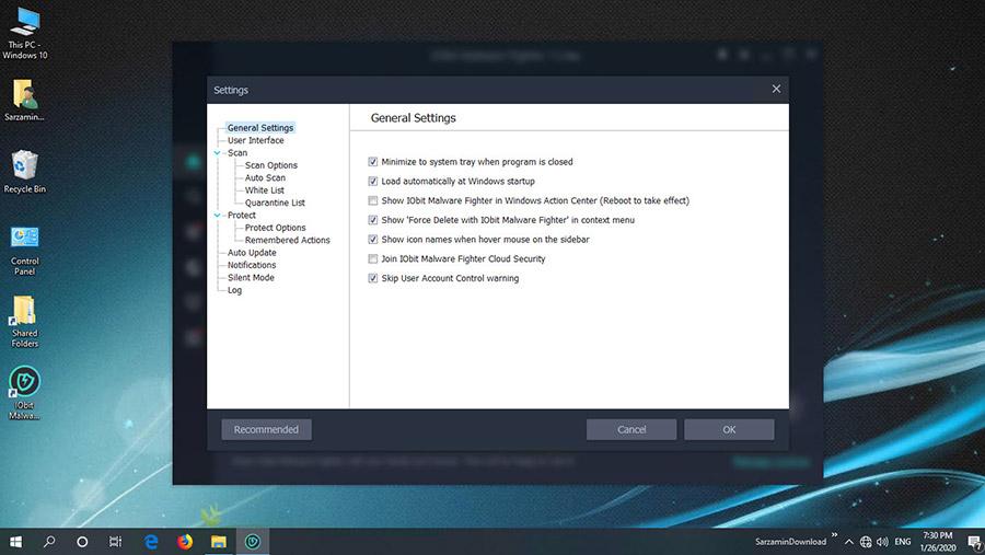 نرم افزارقدرتمند آنتی تروجان (برای ویندوز) -  IObit Malware Fighter Pro 7.5.0.5834 Windows