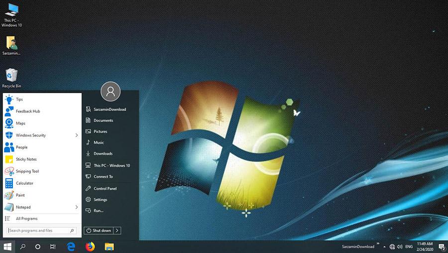 نرم افزار منوی استارت ویندوز 10 (برای ویندوز) - StartIsBack 2.9.1 Windows