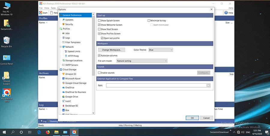 نرم افزار پشتیبان گیری از اطلاعات هارد (برای ویندوز) - KLS Backup Pro 10.0.2.1 Windows