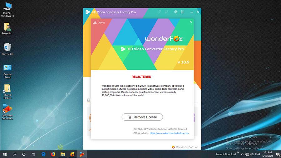 نرم افزار تبدیل ویدیوهای HD (برای ویندوز) - WonderFox HD Video Converter Factory Pro 19.3 Windows