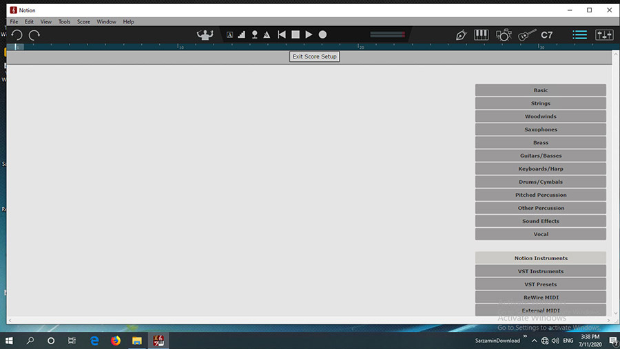 نرم افزار نوشتن نت موسیقی (برای ویندوز) - Presonus Notion 6.4.462 Windows