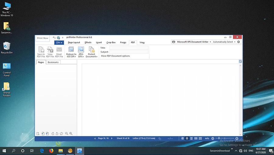 نرم افزار پرینتر مجازی (برای ویندوز) - priPrinter Professional 6.6.0.2491 Windows