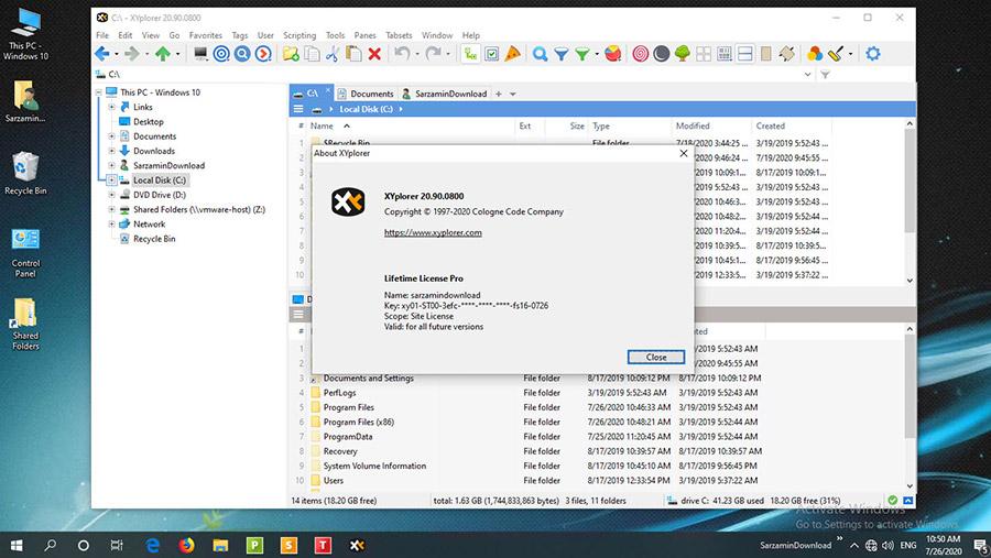 نرم افزار مدیریت فایل ویندوز - XYplorer 20.90.0800 Windows