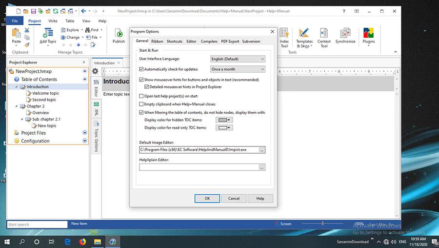 نرم افزار ساخت فایل Help و صفحات راهنما (برای ویندوز) - Help & Manual 8.2.1.5670 Windows