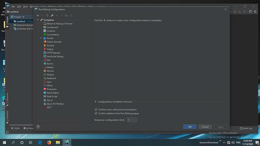 نرم افزار ویرایش کدهای جاوا و اچ تی ام ال (برای ویندوز) - JetBrains WebStorm 2020.2.3 Windows