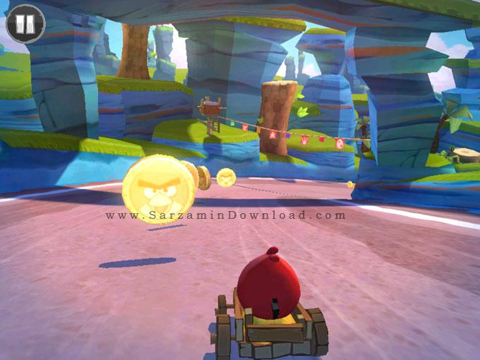 بازی مسابقات پرندگان خشمگین (به همراه نسخه هک شده) برای اندروید - Angry Birds Go 1.6.3 Android