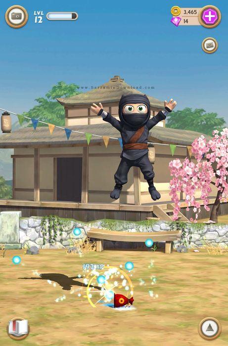 بازی نینجای دست و پا چلفتی (به همراه نسخه هک شده) برای اندروید - Clumsy Ninja 1.13.0 Android