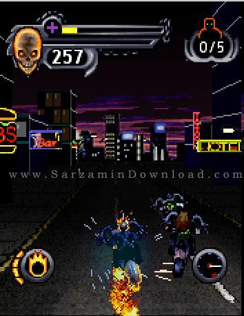 بازی روح موتورسوار (برای جاوا) - Ghost Rider JAVA