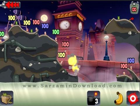 بازی جنگ کرم ها (برای سیمبین) - Worms Symbian