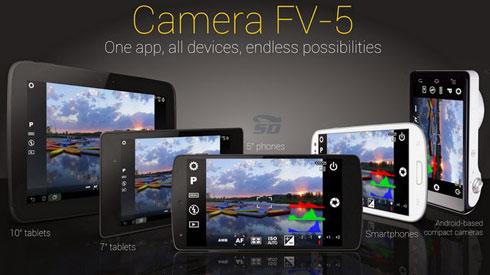 نرم افزار عکاسی حرفه ای (برای اندروید) - Camera FV-5 2.55 Android
