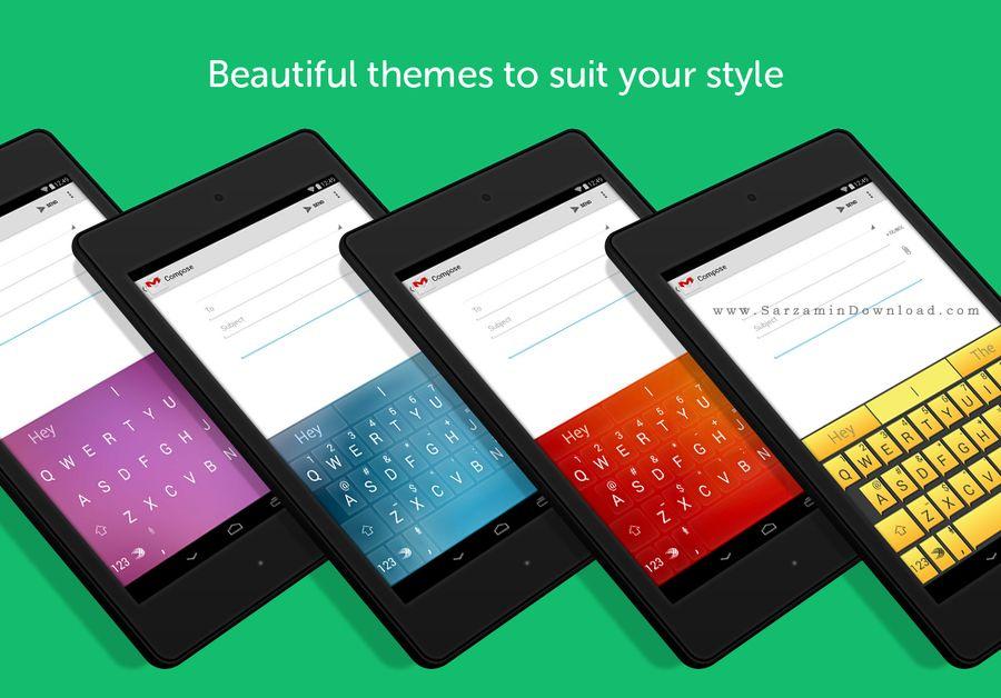 کیبورد حرفه ای (برای اندروید) - SwiftKey Keyboard 5.3.0.67 Android