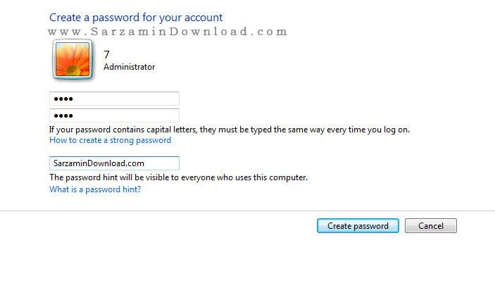 آموزش قرار دادن رمز روی ویندوز 7 <a href=
