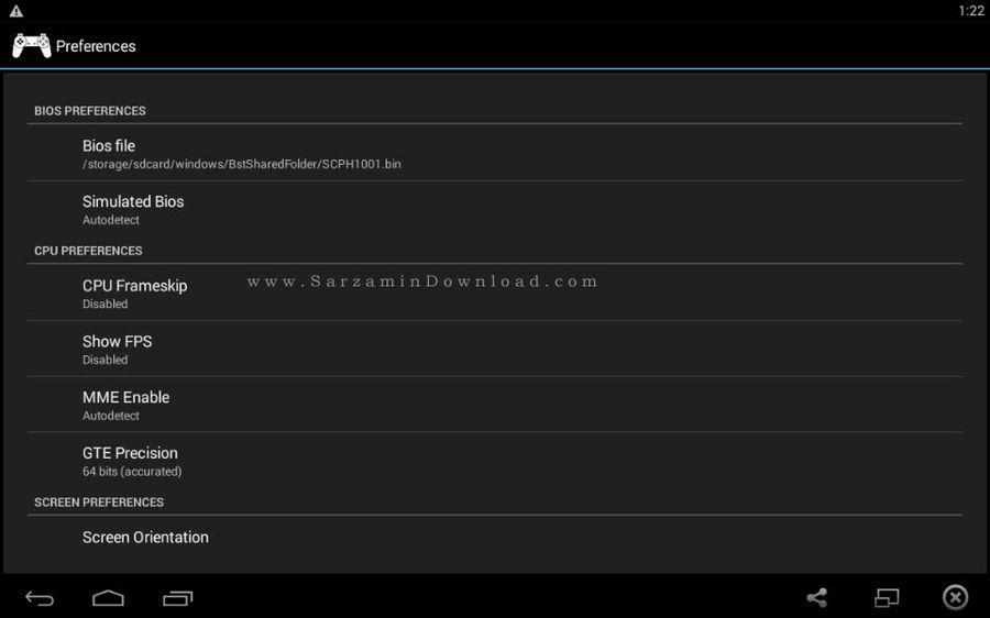 نرم افزار شبیه ساز پلی استیشن (برای اندروید) - ePSXe 1.9.28 Android