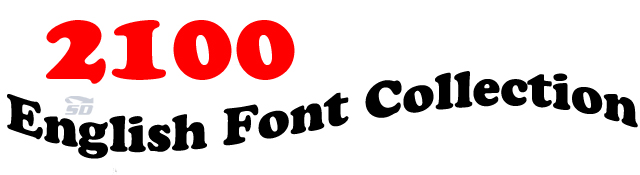دانلود مجموعه فونت انگلیسی - 2100English Font Collection - دانلود رایگان