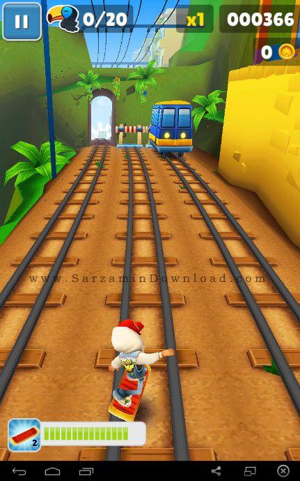 بازی ساب وی سورف ریو (به همراه نسخه هک شده) برای اندروید - Subway Surfers 1.41.0 Rio Android