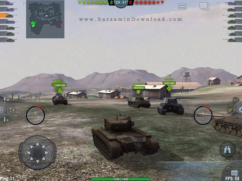 بازی جنگ تانک ها (برای اندروید) - World of Tanks Blitz 1.11 Android