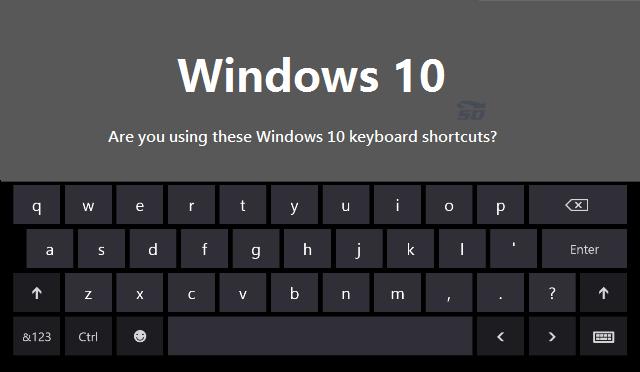 معرفی کلیدهای میانبر ویندوز 10