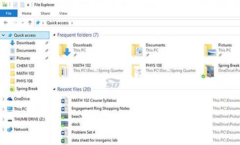 آموزش اضافه کردن یک پوشه به Quick Access در ویندوز 10
