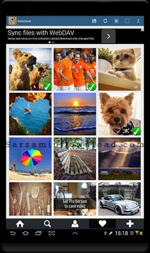 نرم افزار دانلود عکس از اینستاگرام (برای اندروید) - InstaSave Pro 2.6.5 Android