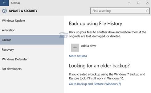 آموزش فعال کردن File History در ویندوز 10