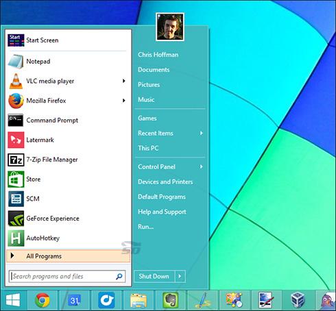 آموزش تغییر استارت ویندوز 10 به ویندوز 7