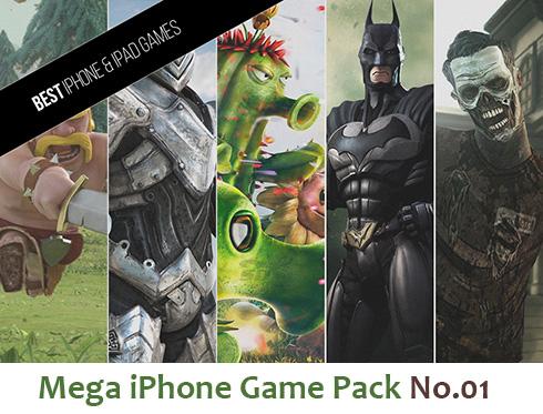 بخش اول مجموعه عظیم بازی (برای آیفون) - Mega iPhone Game Pack No.01
