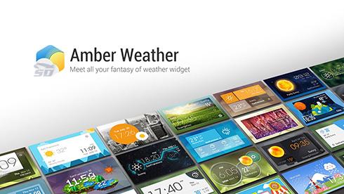 نرم افزار پیش بینی آب و هوا (برای اندروید) - Amber Weather 1.6.2 Android