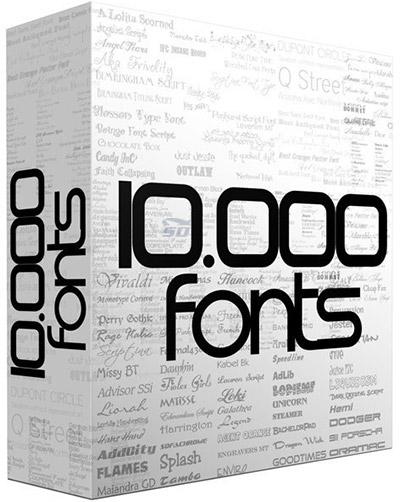 دانلود مجموعه عظیم فونت انگلیسی - 10000Commercial Fonts - دانلود رایگان