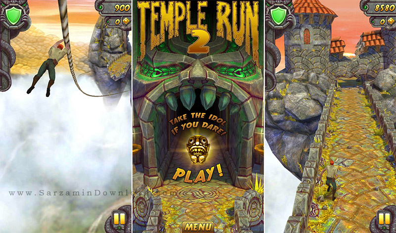 بازی تمپل ران (به همراه نسخه هک شده) برای اندروید - Temple Run 2 v.1.19.2 Android