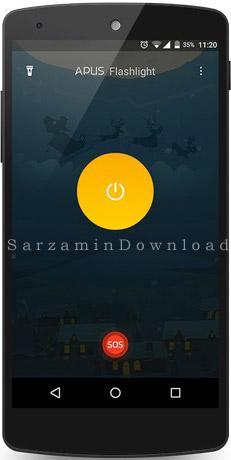 چراغ قوه (برای اندروید) - APUS Flashlight 1.1.5 Android