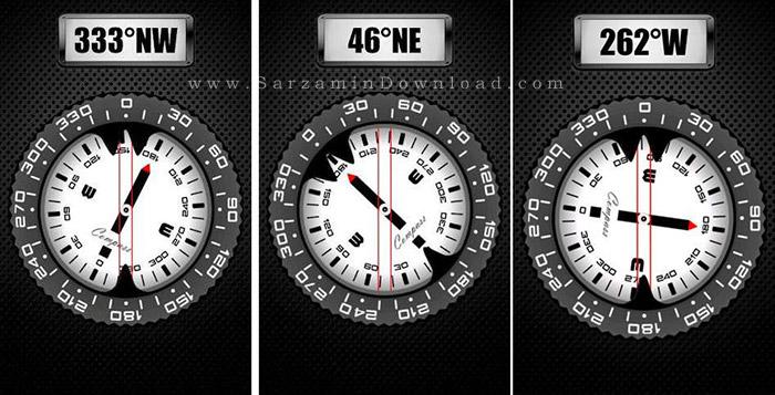 نرم افزار قطب نما (برای اندروید) - Compass PRO 7.41 Android