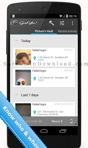 فضول گیر اندروید (برای اندروید) - GotYa Face Trap 2.4 Android