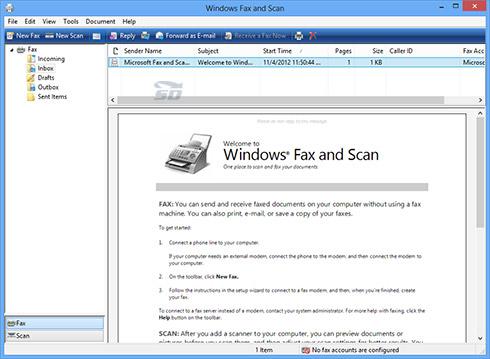 آموزش ارسال فکس با کامپیوتر