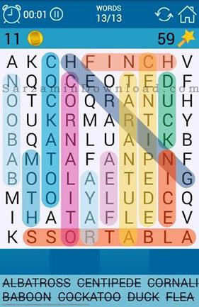 بازی جستجوی کلمات (برای اندروید) - Word Search 2.5 Android