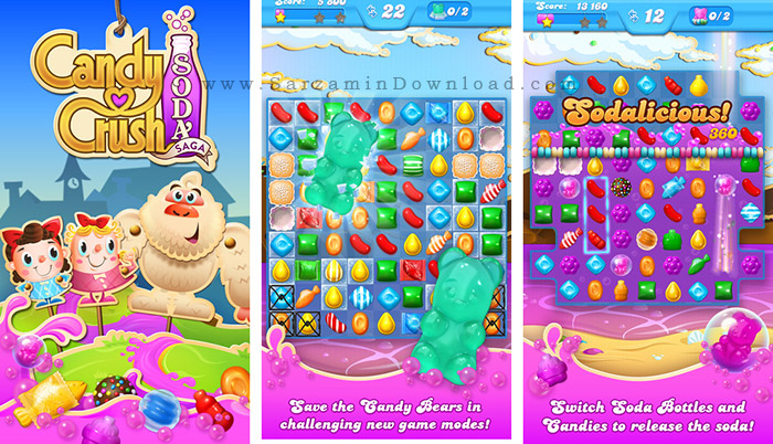 بازی رنگها (برای اندروید) - Candy Crush Soda Saga 1.59.2 Android