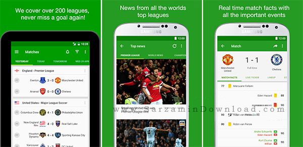 نرم افزار مشاهده نتایج فوتبال (برای اندروید) - FotMob 33.0 Android