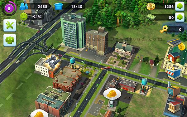 بازی شهرسازی (برای اندروید) - SimCity BuildIt 1.10.11 Android