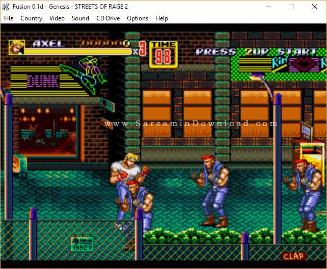 بازی شورش در شهر (برای کامپیوتر) - Streets of Rage 2 PC Game