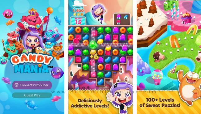 بازی رنگها (برای اندروید) - Viber Candy Mania 1.4.2 Android