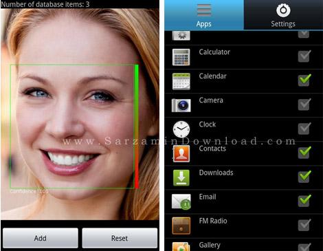 نرم افزار تشخیص چهره (برای اندروید) - Visidon AppLock Plus 2.6 Android