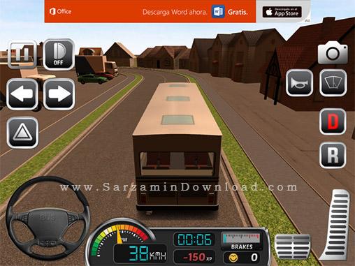 بازی شبیه ساز رانندگی (برای اندروید) - Bus Simulator 2015 v.1.8.4 Android
