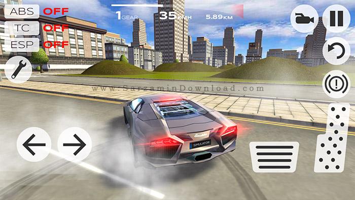 بازی شبیه ساز رانندگی (برای اندروید) - Extreme Car Driving Simulator 4.06 Android