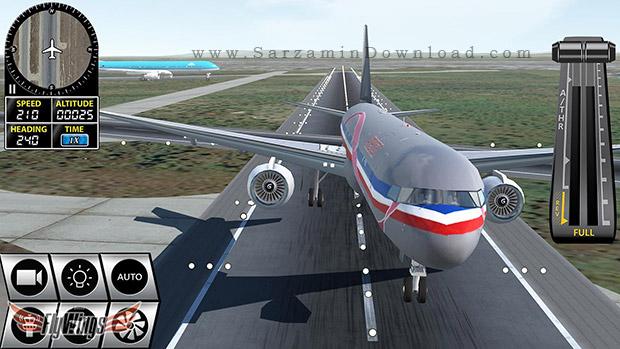 بازی شبیه ساز پرواز (برای اندروید) - Flight Simulator 2016 v.1.2 Android